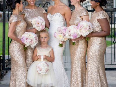 bridesmaid looking shocked during wedding