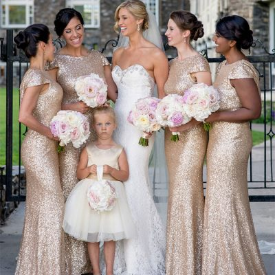 bridesmaid looking shocked during wedding